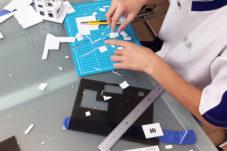 子どもの建築模型制作 神戸 設計事務所