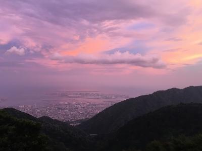 六甲山荘からの夕焼,神戸,設計事務所