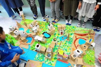 洲本市立由良小学校での建築出前授業