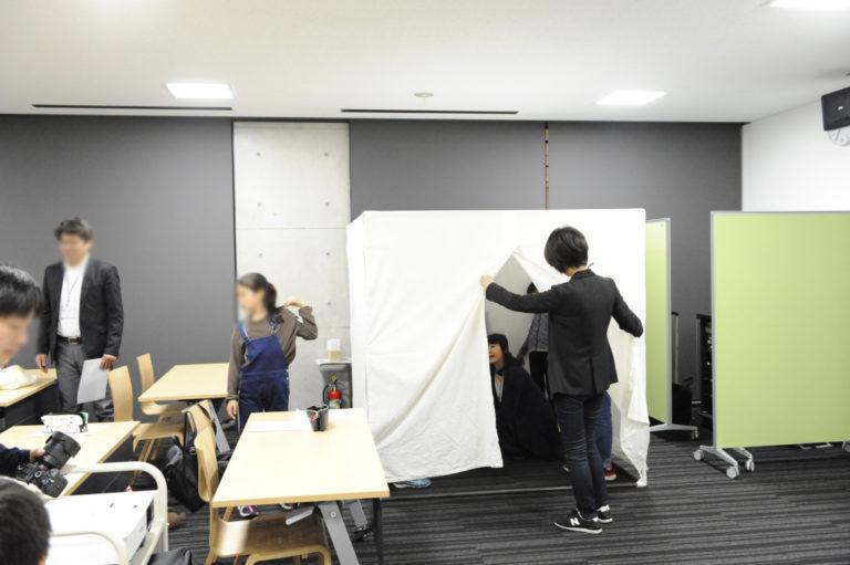 建築出前授業の原寸大模型 神戸 設計事務所